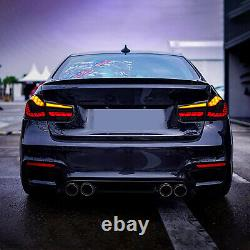 For 12-18 BMW F30 F35 F80 M3 3 Series Dynamic Smoked FULL LED Tail Lights Lamps