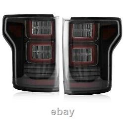 For 15-20 FORD F-150 All Trims 2 Gen. SMOKED FULL LED Taillights with RED Turn Sig