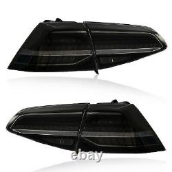 For 16-17 VW Golf MK7/GTI SMOKE FULL LED Taillights With Sequential MK7.5 Style