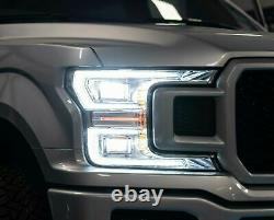 For Ford 2018-2020 F-150 Chrome with Sequential Turn Signal FULL LED Headlights