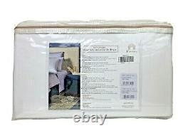 Frette At Home Post Modern 4 Piece Sheet Set White & Blue Cal King Portugal $450