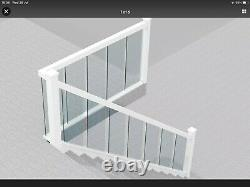 Full Glass Staircase Banister Set Pine upto 3.6m with Landing up to 1.8m