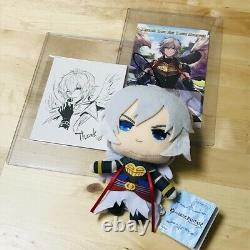 GRANBLUE FANTASY Lucifer Sandalphon Plush doll & Sign Post Card Shikishi Set