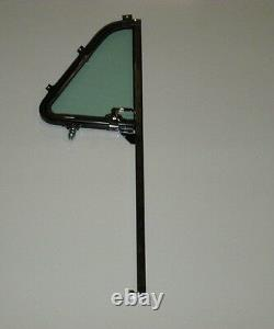 Glass Chevy GMC Pickup 1951 1952 1953 1954 Vent Post Door Channel Back Set Green