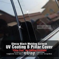 High Glossy Black Pillar Post Cover Trim 4P Set For CADILLAC 2007-2013 Escalade