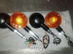 Honda CBX 1978, 1979, 1980 Complete set of Signals & NOS Chrome Posts & hardware