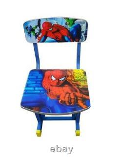 Kids Children Home Study Table Storage Cartoon Superhero Desk Chair Set UK Post