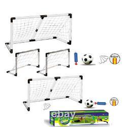 Kids Large 2 In 1 Football Soccer Outdoor Sport Play Fun Net Goal Post Ball Pump