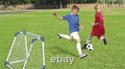 Kids Mini Football Goal Posts Twin Set A Frames Childrens Soccer 2 Goals Set