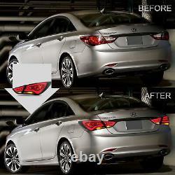 LED Headlights+SMOKE Taillights for SONATA 11-13 GL 11-14 GLS Limited SE