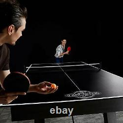 Lancaster Foldable Indoor Table Top Tennis Set with Net & Post