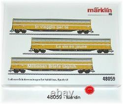 Märklin 48059 Großraum-Schiebewandwagen-Set Post CH AG 3-teilig #NEU in OVP#