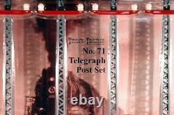 Mth 10-1093 Tinplate Standard Gauge No 71 Telegraph Post Set. New In Box