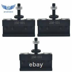 NEW OXA Wedge Type Tool Post Set 250-000 For Mini Lathe 8 and Two Extra 250-001