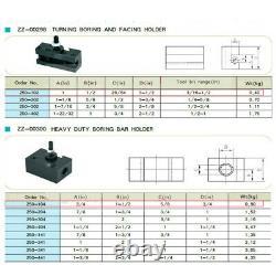New AXA Size 250-111 Set Wedge Type Quick Change Tool Post Set for 6-12 Lathe