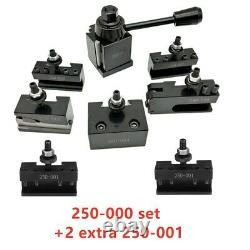 OXA Wedge (FX)250-000 Tool Post Holder Set + 2 extra 250-001 For Lathe up to 8