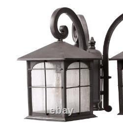 Outdoor Post Light Fixture Garden Porch Yard Lighting 3 Head Lamp Exterior Decor