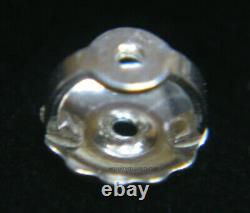 PAIR 5.75mm SOLID 950 PLATINUM 0.041 Post Threaded Screw Earring Backs Nut USA