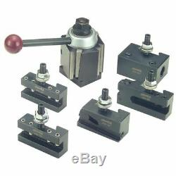 Phase II 251-111 100WST 6 Pc Wedge Q/C Tool Post Set-Lathe Swing 9-12