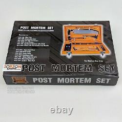 Post Mortem Instrument Set / Autopsy / Dissection Kit Anatomy 19Pcs Wooden Box