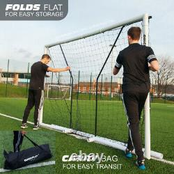 Quickplay Football Match 2.0 Quality Folding Goal Cheap Quick Easy Set Up Post