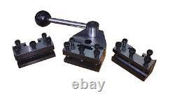 Rdg Tools Hbm Swiss Type Quickchange Tool Post Set 2 Holders Vee Holder + Block