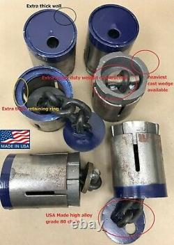 Set 6 USA Made Floor Anchor Pots Auto BODY Pulling Posts and vehicle securing