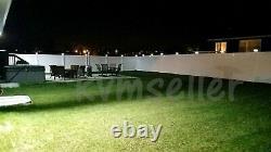 Set of 12 Black Color Square Solar Light Post Cap 4x4 PVC Fence Style 246BX12
