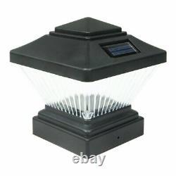 Set of 18 Matte Black Color Square Solar Light Post Cap PVC Fence Style