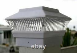 Set of 2/4/6/8/10/12 Outdoor Solar White 4x4 PVC&Wood Fence Post Cap LED Light