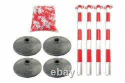 Set of 4 Posts & Bases with Chain