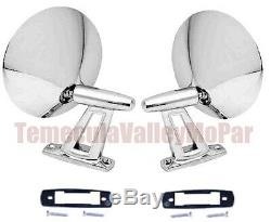 Show Quality Twin Post Outside Mirror Set for 1960-1966 MoPar A-Body