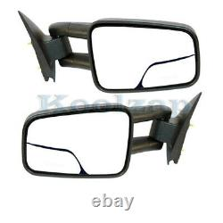 Sierra Manual Telescopic Tow Camper Rear View Mirror Left & Right Side SET PAIR