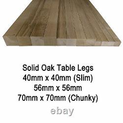 Square Solid European Oak Table Legs/ Posts Various Sizes & Heights -Set of 4