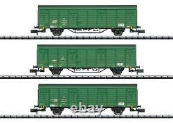 Trix Minitrix 15312 Güterwagen-Set Postzug der DR 3-teilig #NEU in OVP#