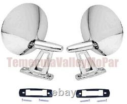 Twin-Post Outside Mirror Set for 1962-1965 Plymouth & Dodge C-Body