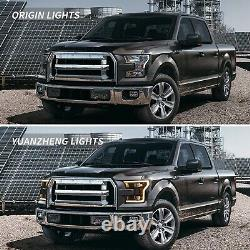 VLAND FULL LED Projector Headlights For FORD F150 15-17 & F150 RAPTOR 16-21