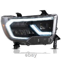 VLAND FULL LED Reflector Headlights For Toyota 07-13 Tundra & 08-20 Sequoia