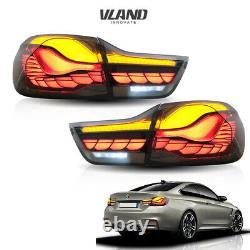 VLAND For 2014-2020 BMW M4 Series F32 F33 F36 F82 F83 LED Tail Lights Smoke 4PCS
