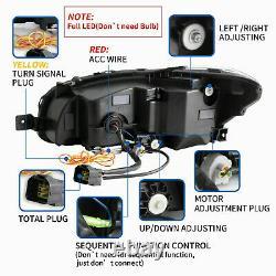 VLAND Full LED Headlights with Sequential For 15-21 Subaru WRX & 15-17 WRX STI