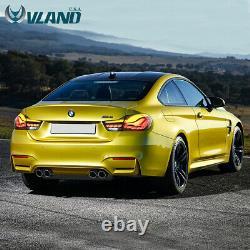 VLAND LED Tail Lights Smoke For 14-20 BMW M4 F32 F33 F36 F82 F83 GTS OLED Style
