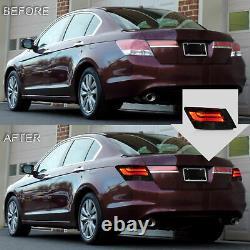 VLAND Modded For 08-12 Honda Accord Sedan Smoked Taillights with Rinning light