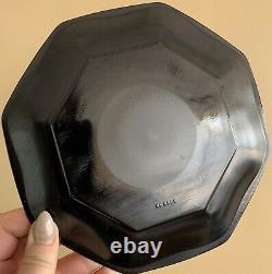Vtg French Arcoroc Black Geometric Collectible Dinnerware Set Post Modern Dining